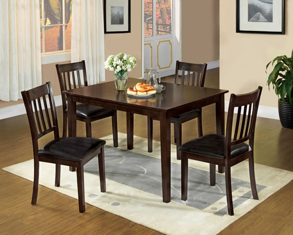 Furniture of America West Creek I 5pc Dining Room Set FOA-CM3012T-5PK