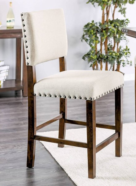 2 Furniture Of America Glenbrook Counter Height Chairs FOA-CM3018PC-2PK