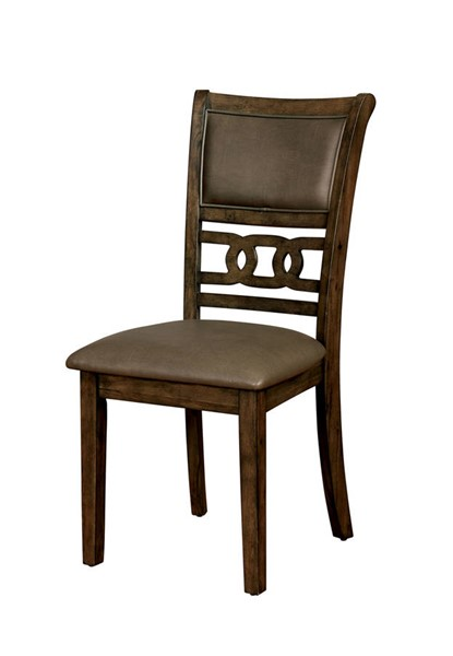 2 Furniture of America Holly Satin Walnut Side Chairs FOA-CM3023SC-2PK