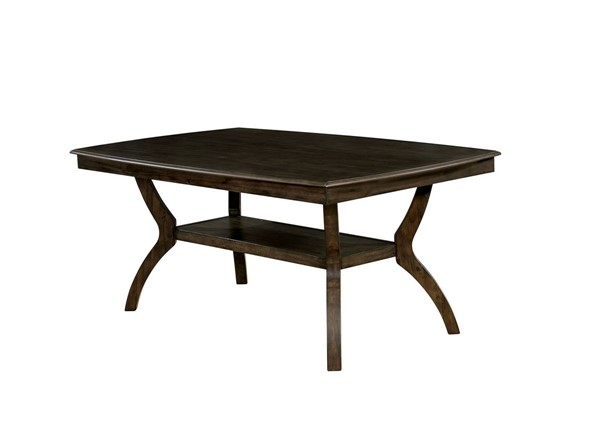 Furniture of America Holly Satin Walnut Dining Table FOA-CM3023T