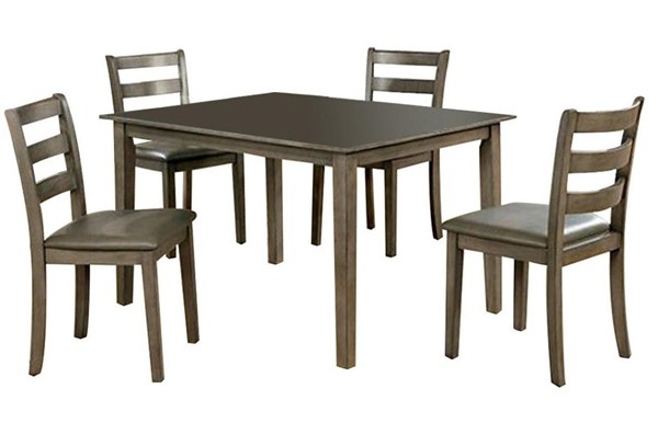 Furniture of America Marcelle Gray 5pc Dining Set FOA-CM3028T-5PK
