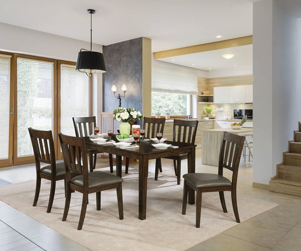 Furniture of America Linton Warm Gray 7pc Dining Set FOA-CM3029T-7PK