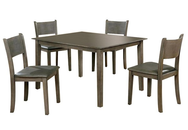 Furniture of America Marcia Gray 5pc Dining Set FOA-CM3031T-5PK