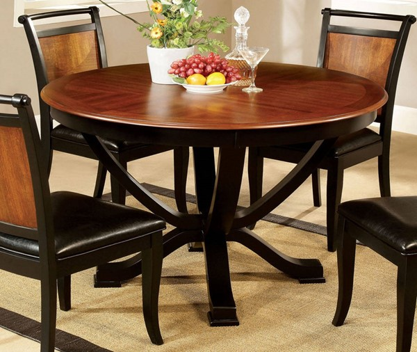 Furniture of America Salida I Round Dining Table FOA-CM3034RT