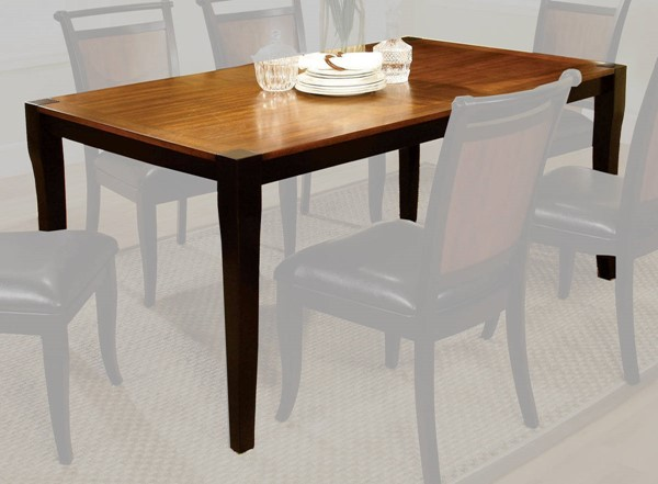 Furniture of America Salida I Espresso Black Dining Table FOA-CM3034T