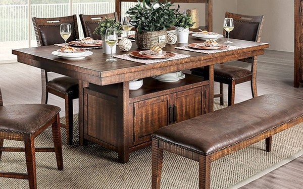 Furniture of America Wichita Light Walnut Dining Table FOA-CM3061T