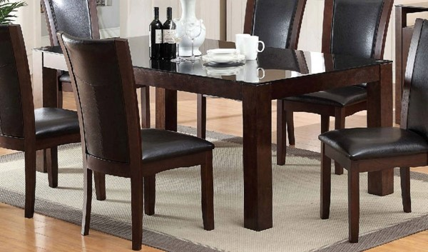Furniture of America Astoria I Glass Top Dining Table FOA-CM3062T-TABLE