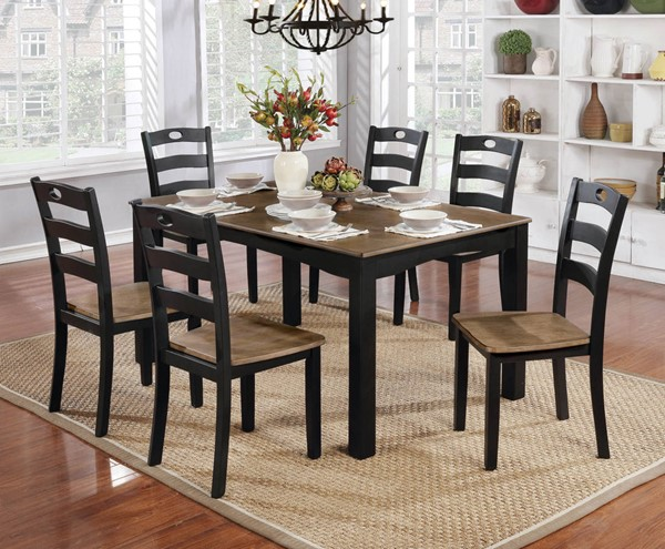 Furniture of America Liliana 7Pc Dining Table Sets FOA-CM3107-7PK-VAR