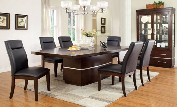 Furniture of America Lawrence 7pc Dining Room Set FOA-CM3130T-7PC