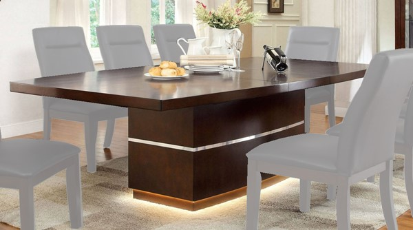 Furniture of America Lawrence 18 Inch Leaf Dining Table FOA-CM3130T-TABLE
