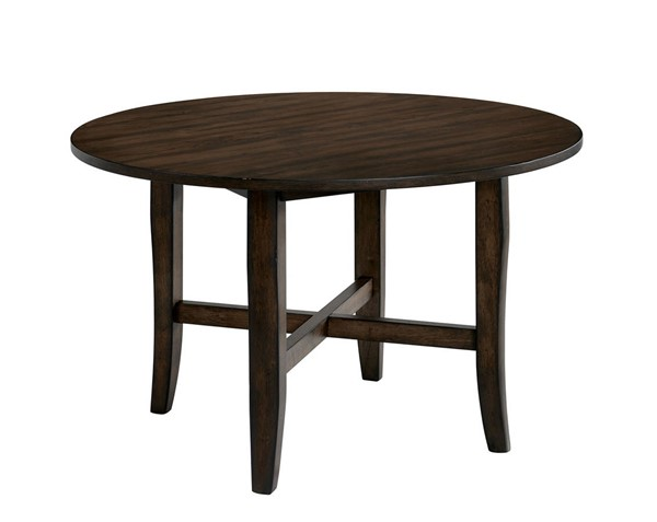 Furniture of America Saige Brushed Oak Round Dining Table FOA-CM3138RT
