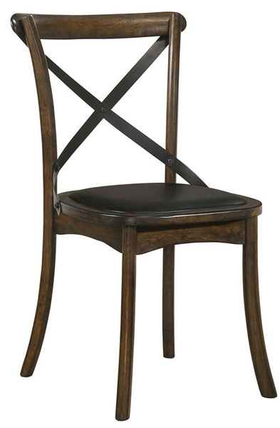 2 Furniture Of America Buhl I Burnished Oak Espresso Side Chairs FOA-CM3148SC-2PK