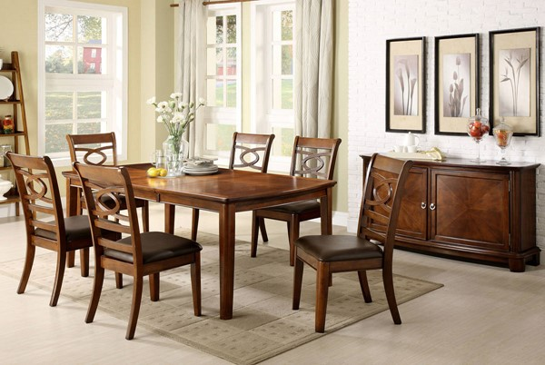 Furniture of America Carlton Dining Table FOA-CM3149T