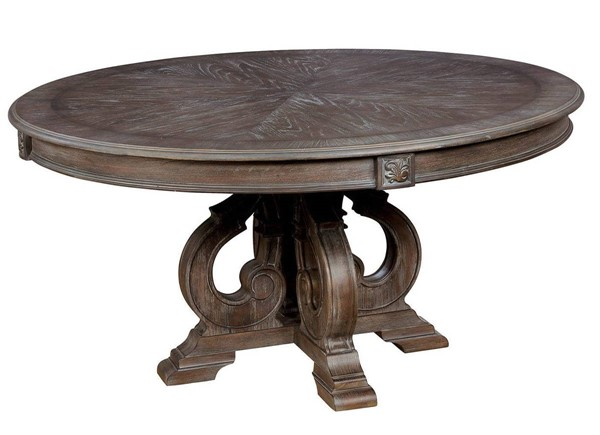 Furniture Of America Arcadia Natural Tone Round Dining Table FOA-CM3150RT