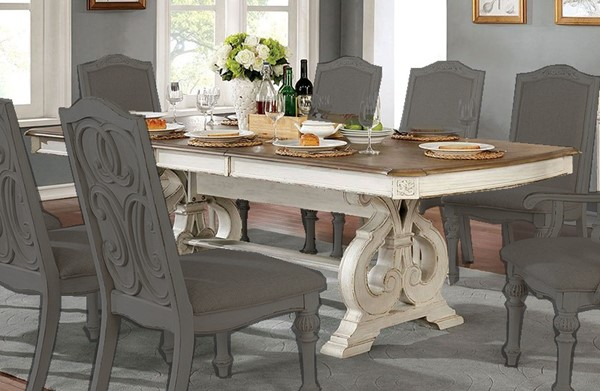 Furniture Of America Arcadia Antique White Dining Table FOA-CM3150WH-T-TABLE