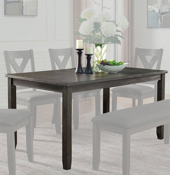 Furniture of America Cilgerran I Gray Dining Table FOA-CM3153GY-T