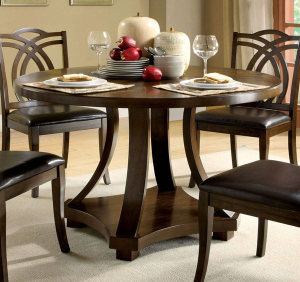 Furniture of America Keukenhof Round Dining Table FOA-CM3160RT