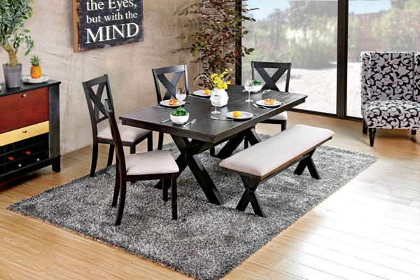 Furniture of America Xanthe Dining Table FOA-CM3172T