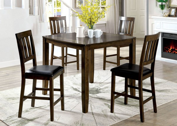 Furniture of America Chandler 5pc Counter Height Table Set FOA-CM3173PT-5PK