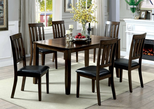Furniture of America Chandler 7pc Dining Table Set FOA-CM3173T-7PK