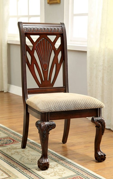 2 Furniture Of America Petersburg I Side Chairs The