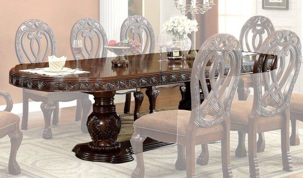 Furniture of America Wyndmere Cherry Dining Table FOA-CM3186CH-T-TABLE
