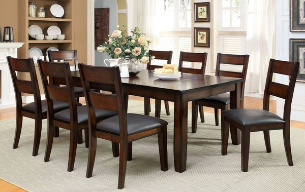 Furniture of America Dickinson I 18 Inch Leaf Dining Table FOA-CM3187T