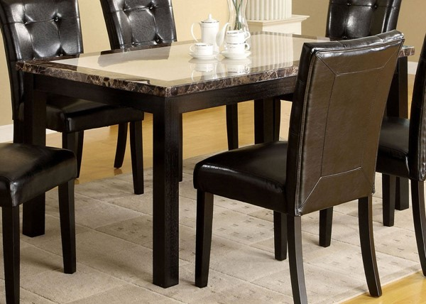 Furniture of America Atlas I Faux Marble Top Dining Table FOA-CM3188T-60