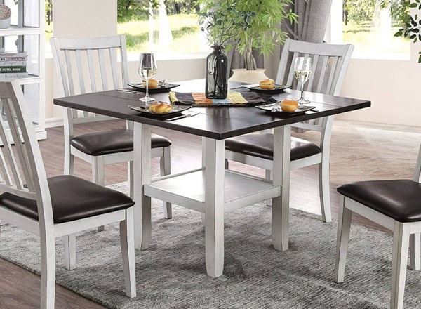 Furniture of America Rae Espresso White Dining Table FOA-CM3197T