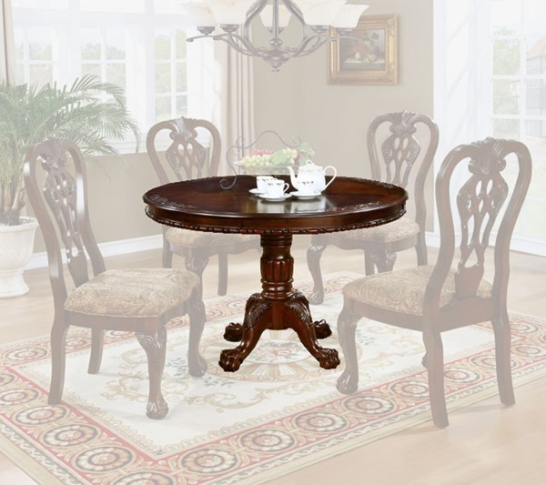Furniture of America Elana Round Dining Table FOA-CM3212RT-TABLE