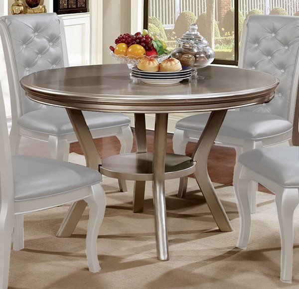 Furniture of America Amine Round Dining Table FOA-CM3219RT