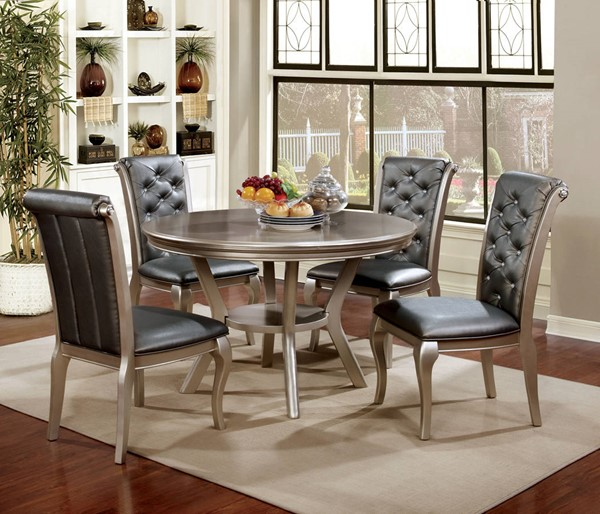 Furniture of America Amina Round Dining Table FOA-CM3219RT