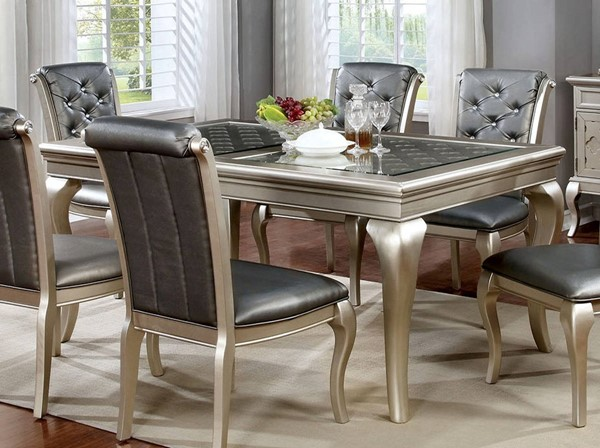 Furniture of America Amine 66 Inch Dining Table FOA-CM3219T-66