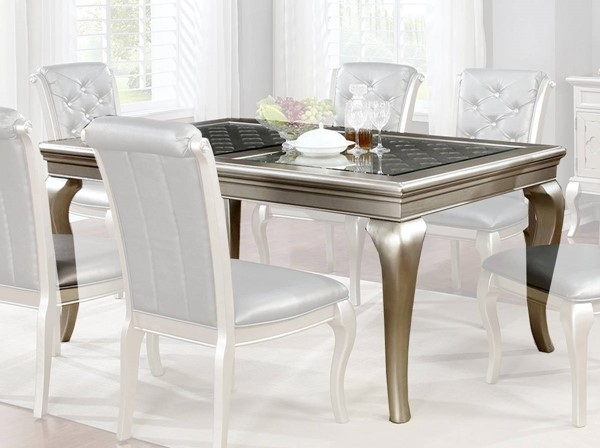 Furniture of America Amina 66 Inch Dining Table FOA-CM3219T-66