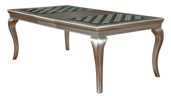 Furniture Of America Amina Champagne 84 Inch Dining Table FOA-CM3219T