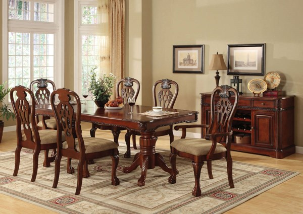 Furniture of America George Town Dining Room Set FOA-CM3222-DR