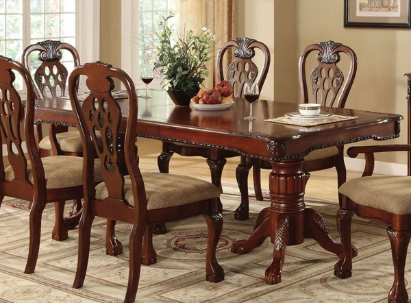 Furniture of America George Town Formal Dining Table FOA-CM3222T-TABLE