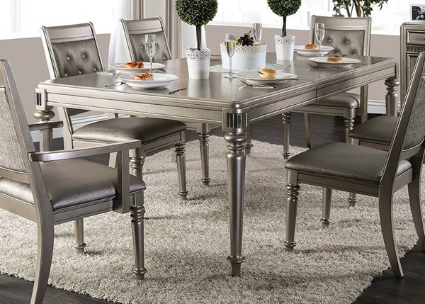 Furniture of America Xandra Champagne Dining Table FOA-CM3239T