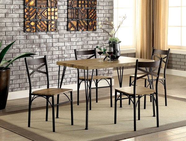 Furniture of America Banbury Antique Brown 5pc Dining Set FOA-CM3279T-43-5PK