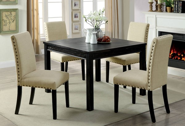 Furniture of America Kristie 5pc Dining Table Set FOA-CM3314T-5PK