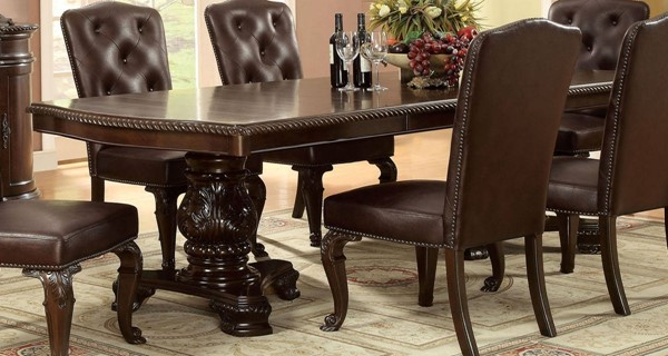 Furniture of America Bellagio 2 Leaves Dining Table FOA-CM3319T-TABLE