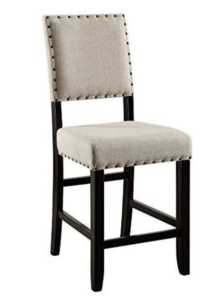 2 Furniture of America Sania II Beige Counter Height Chairs FOA-CM3324BK-PC-2PK