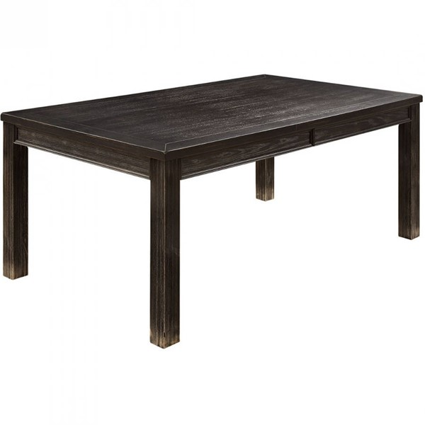 Furniture of America Sania I Antique Black 72 Inch Dining Table FOA-CM3324BK-T
