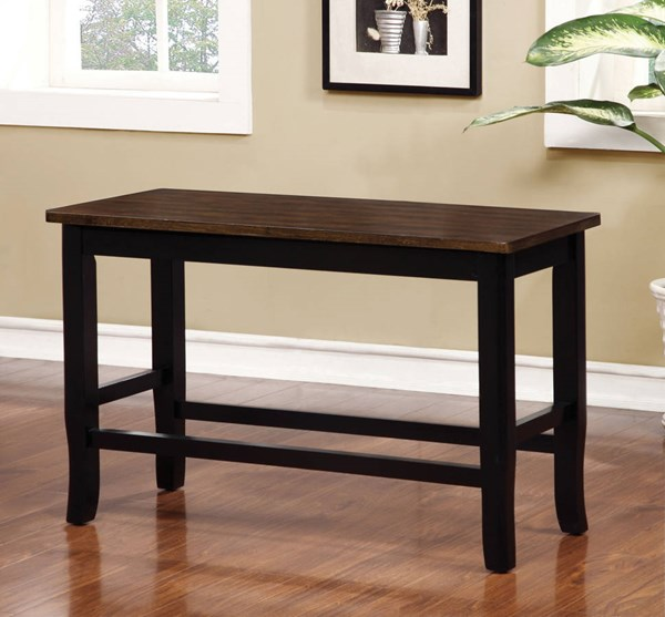 Furniture of America Dover II Black Cherry Counter Height Bench FOA-CM3326BC-PBN