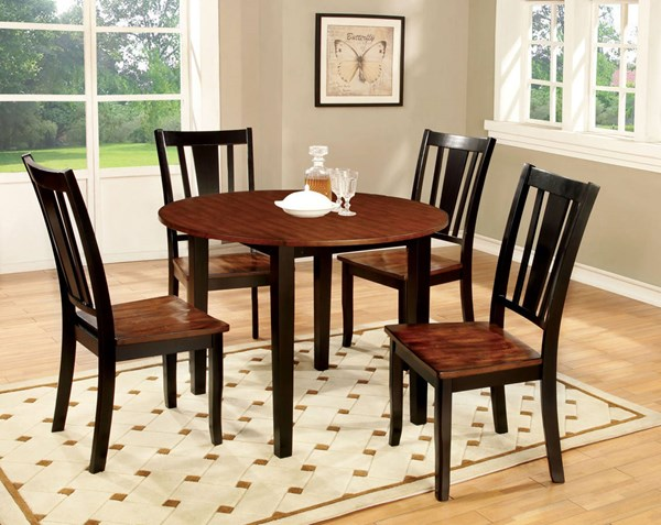 Furniture of America Dover II Drop Leaf Round Tables FOA-CM3326-DR-RT-VAR