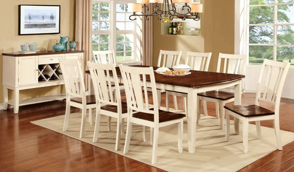 Furniture of America Dover White Cherry Dining Table FOA-CM3326WC-T