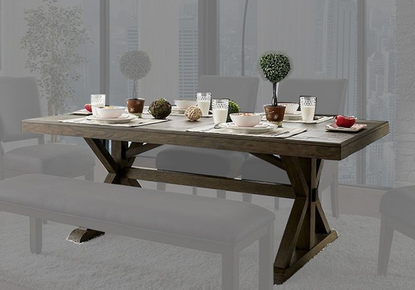 Furniture of America Irving Gray Dining Table FOA-CM3348T-TABLE