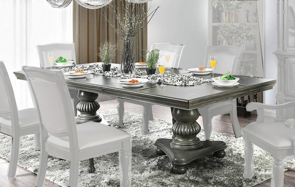 Furniture of America Alpena Gray Dining Table FOA-CM3350GY-T-TABLE