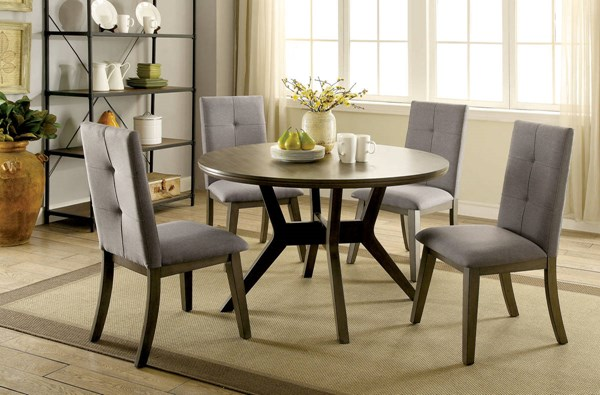 Furniture of America Abelone Round Dining Tables FOA-CM3354-DT-RD-VAR