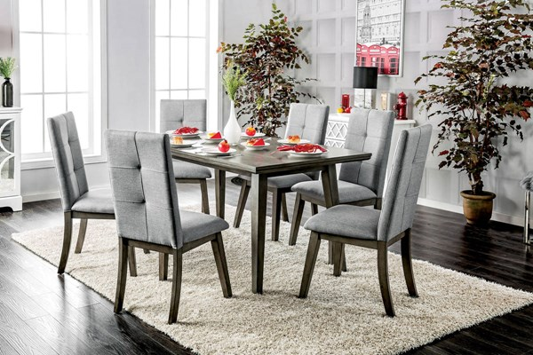 Furniture of America Abelone Light Gray Dining Table FOA-CM3354GY-T